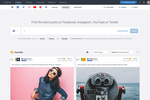 Captura de pantalla de Socialbakers Analytics Plus: Get ideas for effective social media content tailored to your customer personas in the largest library of social media posts across Facebook, Instagram, Twitter, and YouTube