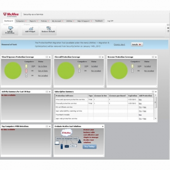 McAfee SaaS endpoint protection suites