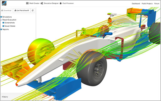 The software provides access to sophisticated Fluid Dynamics (CFD) simulation capabilities