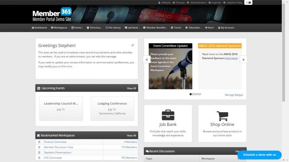 Member365 Software - Member portal