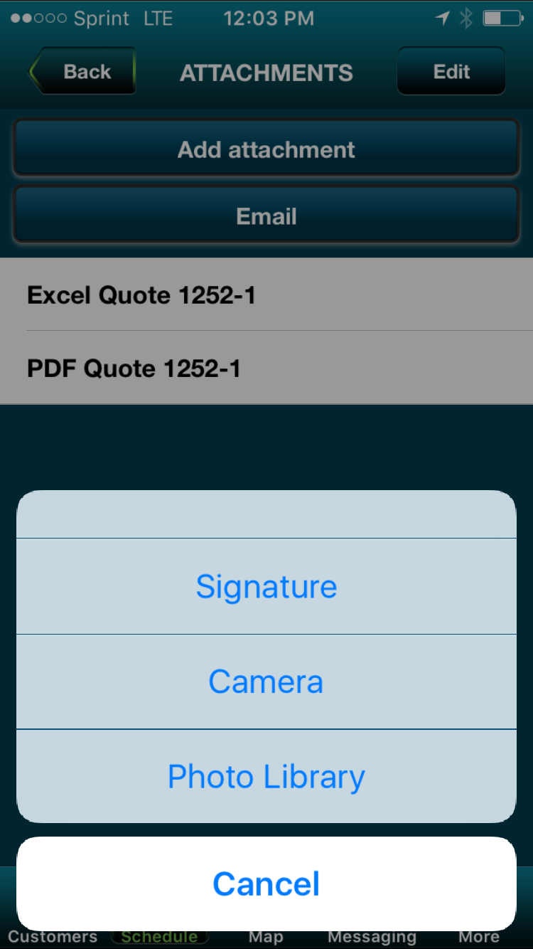 Signature Capture and Photos Update Customer Account