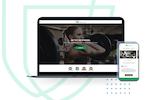 MyStudio screenshot: Launch your own custom website, included in your membership.