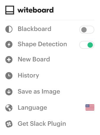 Witeboard settings