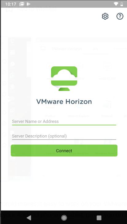 Horizon connect to servers