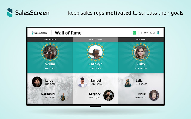 SalesScreen wall of fame