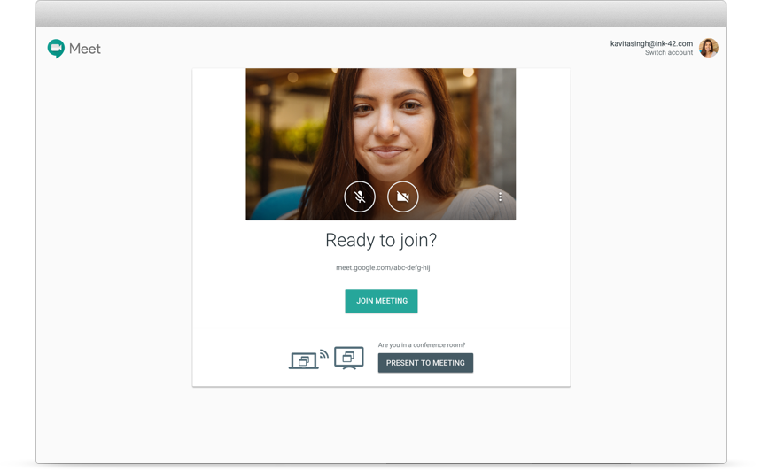 Google Workspace joining a meeting