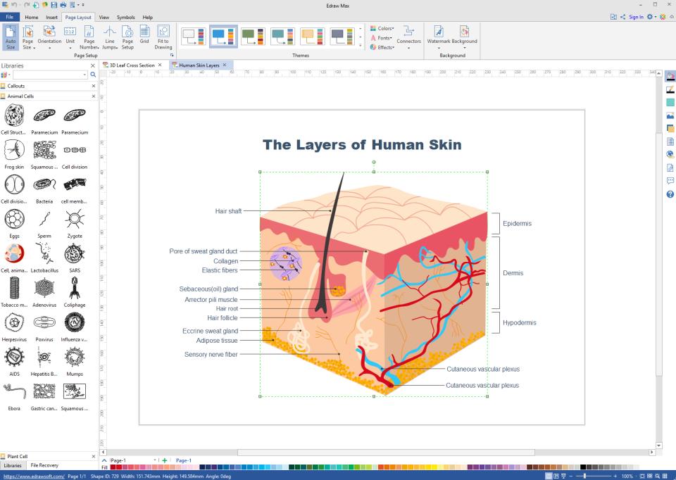 Edraw Max science diagram
