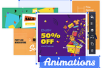 Crello screenshot: Crello Animation Maker allows for the creation of animated posts for the likes of Facebook, Instagram, Twitter and other social media platforms