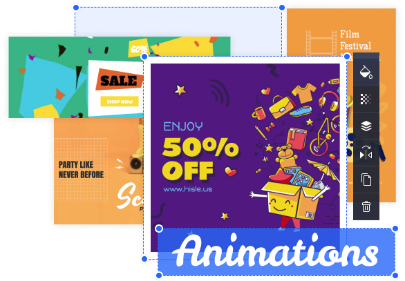 Crello Animation Maker allows for the creation of animated posts for the likes of Facebook, Instagram, Twitter and other social media platforms