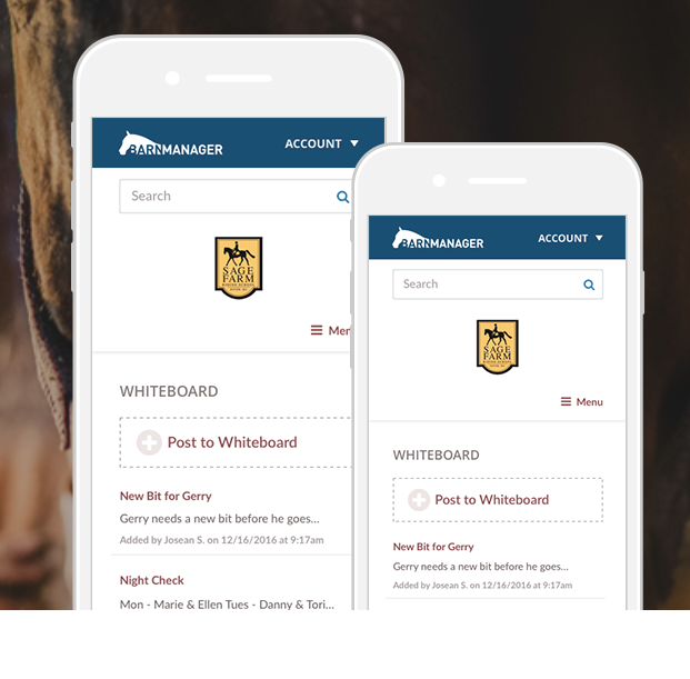 Manage records, appointments, competitions and more from mobile devices