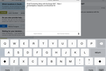 Captura de pantalla de HappyFox Help Desk: iPad Ticket Message