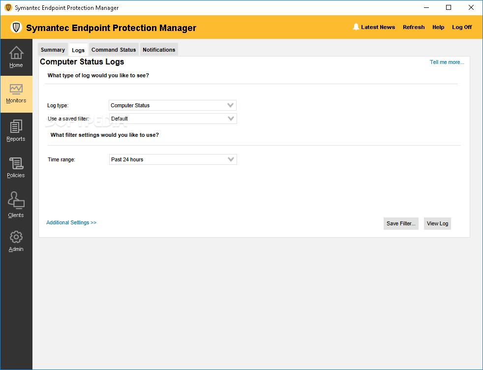Symantec Endpoint Protection Status Logs