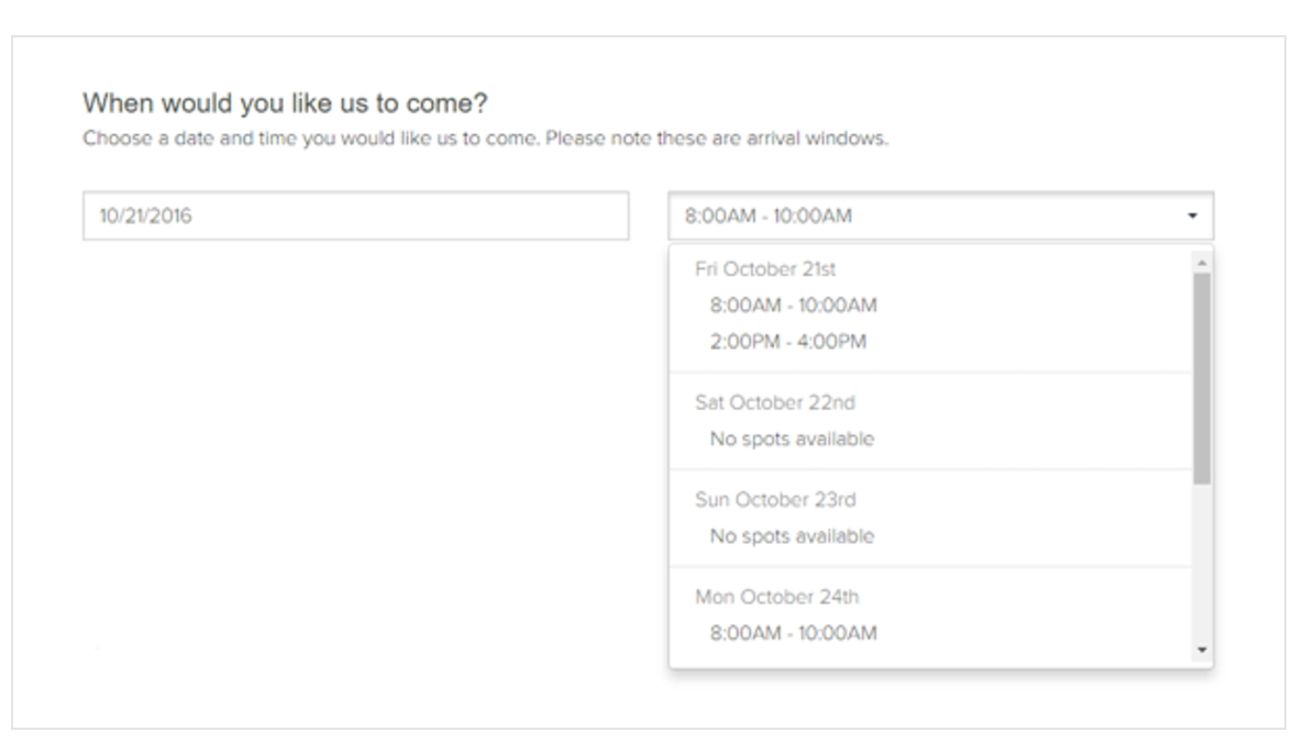 Allow clients to see appointment availability in real time