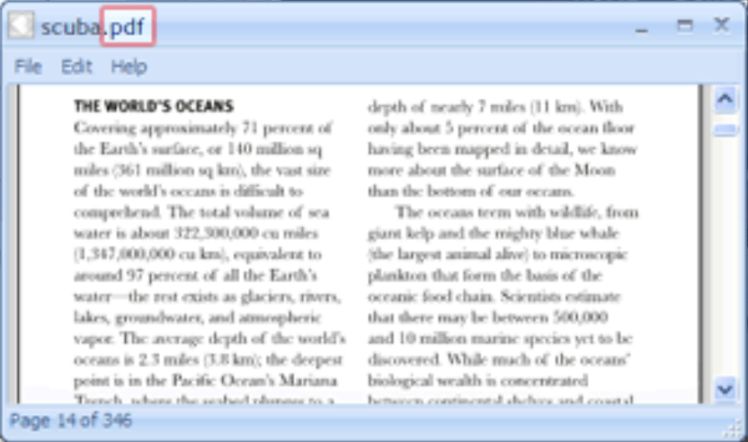 FreeFileViewer access PDF file