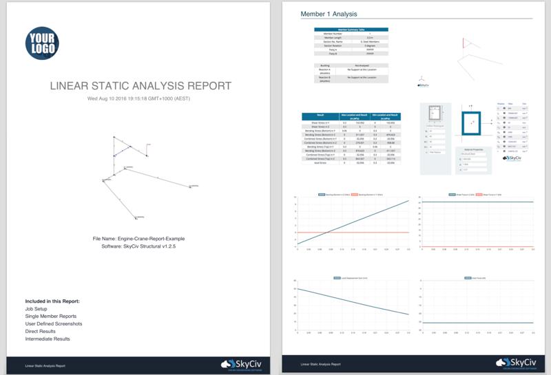 SkyCiv Structural 3D Software - Custom PDF Reports