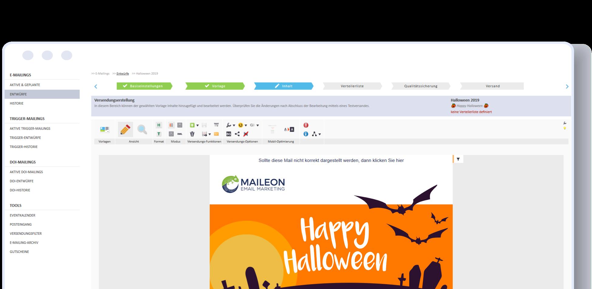 Maileon create emails