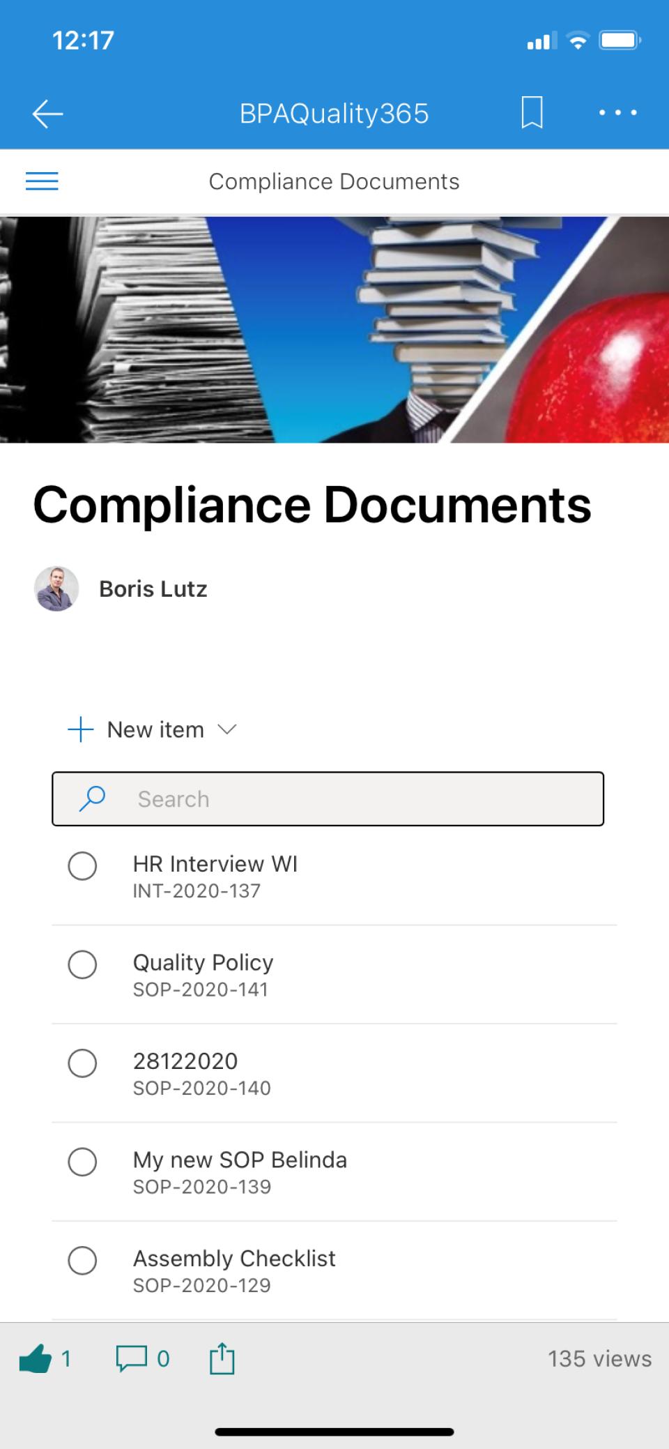 Documents on phone
