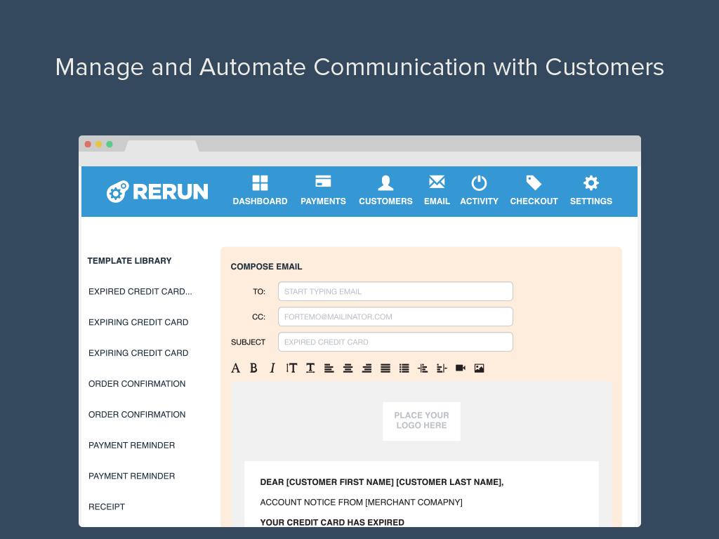 Manage and automate customer communication.