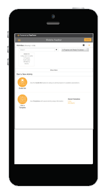 Mobile app for remote site inspections and Mobile Auditor streamlines remote location assessments. Inspection teams see immediate assessment results   in the cloud-based RizePoint Management Console,  replacing the long, manual upload processes.