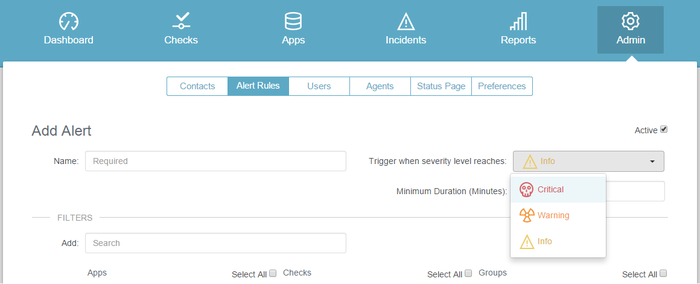 Easily Create Checks and Alerts