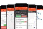 vWorkApp screenshot: Mobile app views including sign-on-glass POD