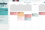 Captura de pantalla de Acuity Scheduling: View and manage appointments on a color-coded calendar, with day, week and month views