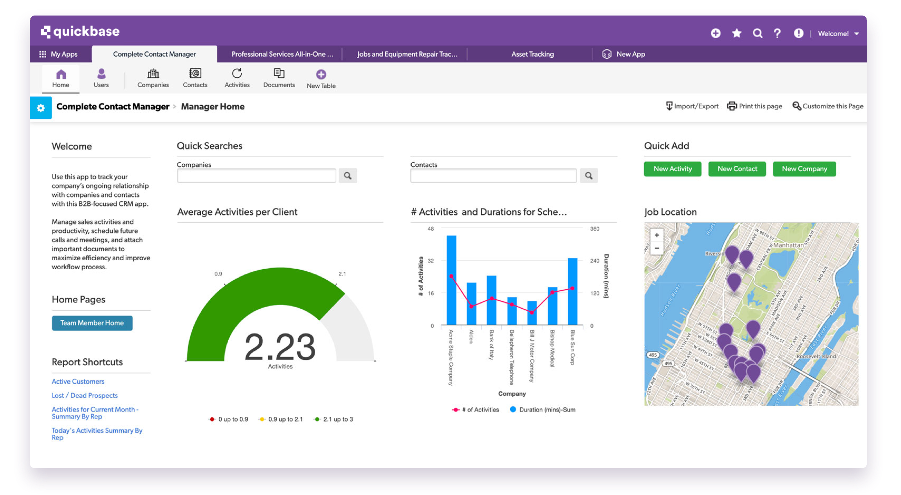 Quickbase Software - Construction Dashboard