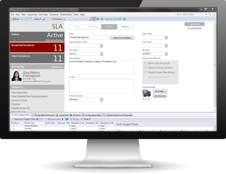 Cherwell can also automate management of SLAs