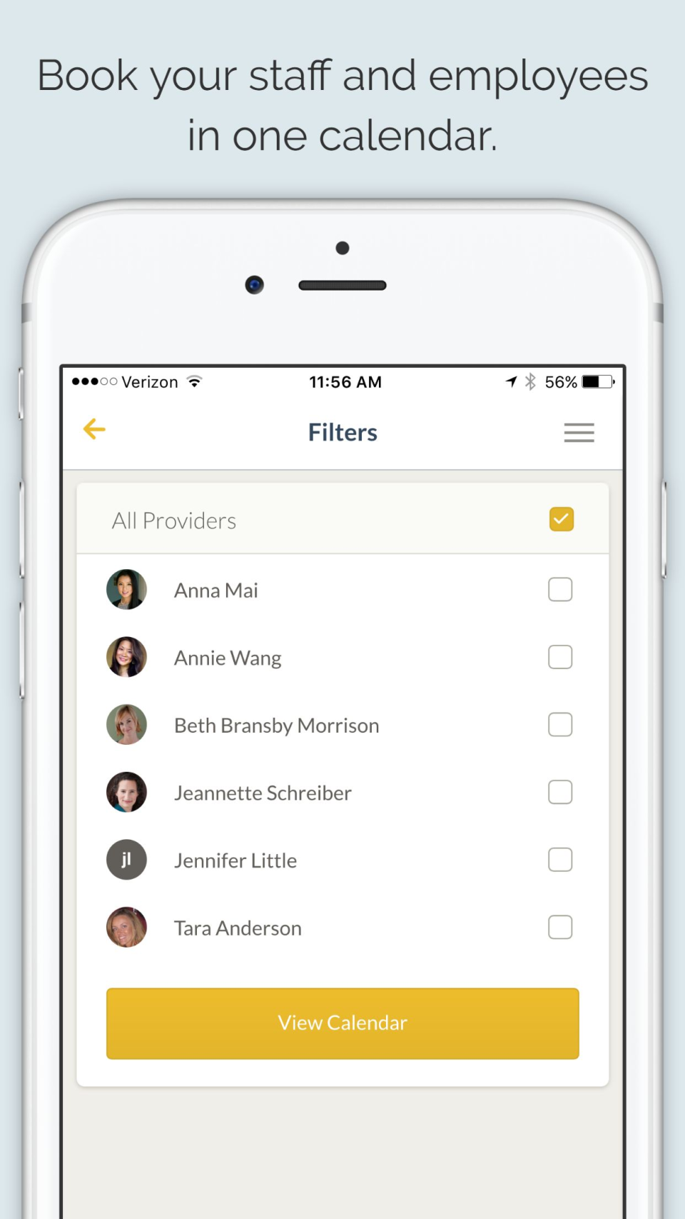 Add employees to the calendar for instant scheduling