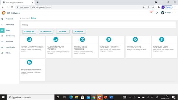 CloudWadi HR Software Software - 5