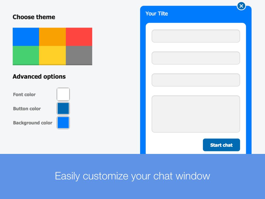 CustomerICare Software - Customize chat window