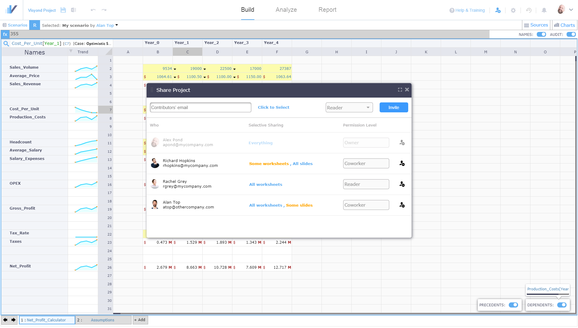 Selectively Share Specific Worksheets and Dashboards with Specific People