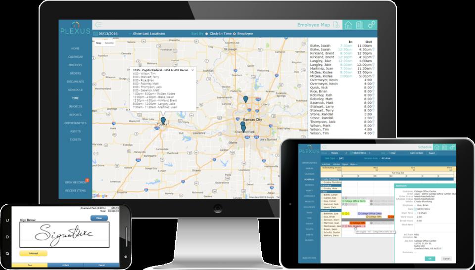 Plexus Software - GPS clock in and more