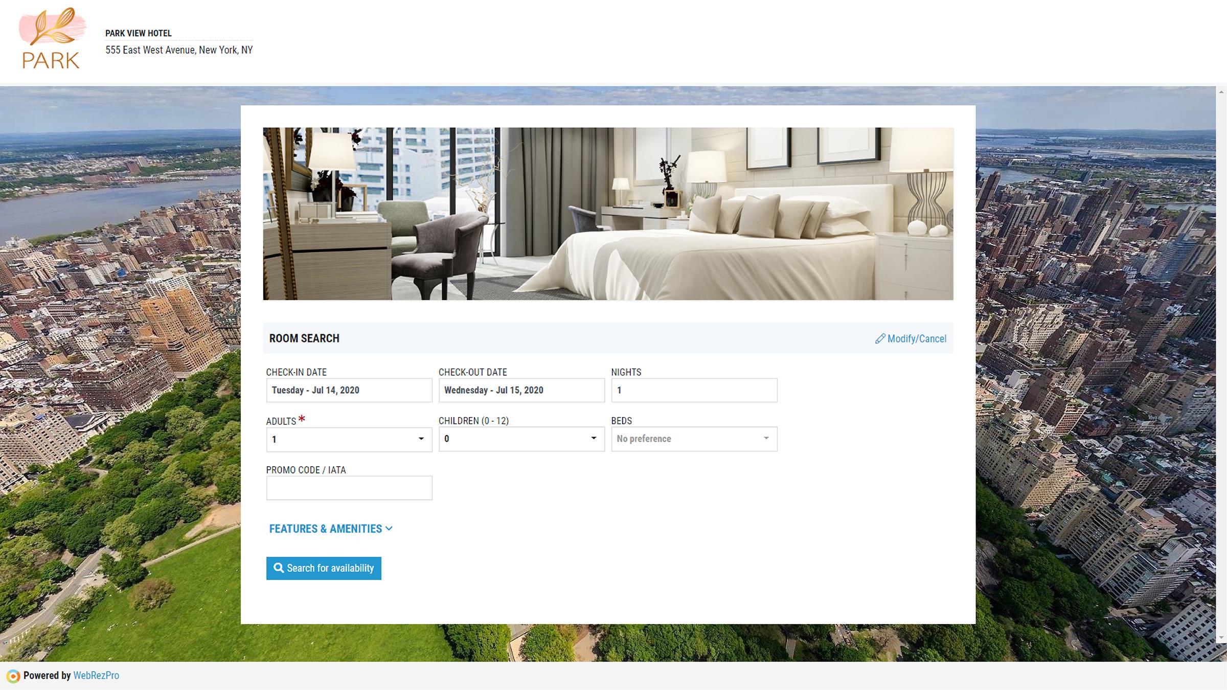 WebRezPro Booking Engine