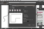 Captura de pantalla de Adobe Illustrator: Use images in brushes (pattern brush tool) and choose the way the image runs around corners with Illustrator CC