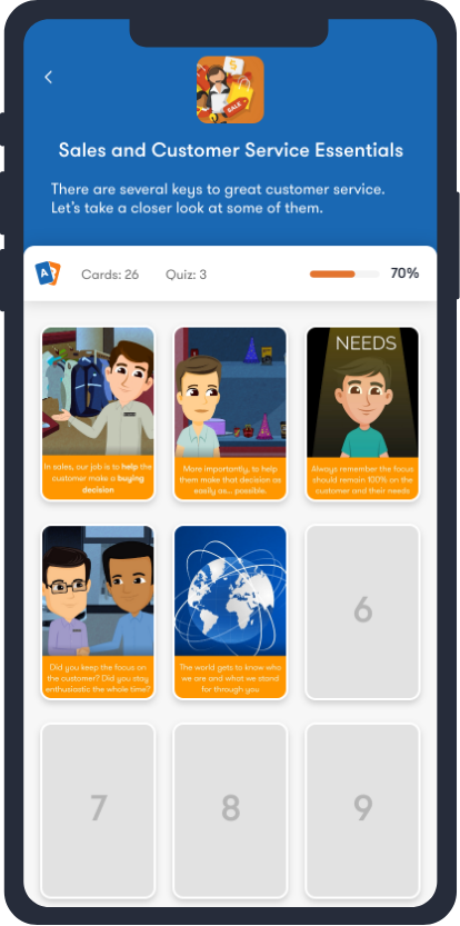 TalentCards Learner View
