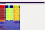 ClickTale screenshot: Mobile Device - Attention Heatmap