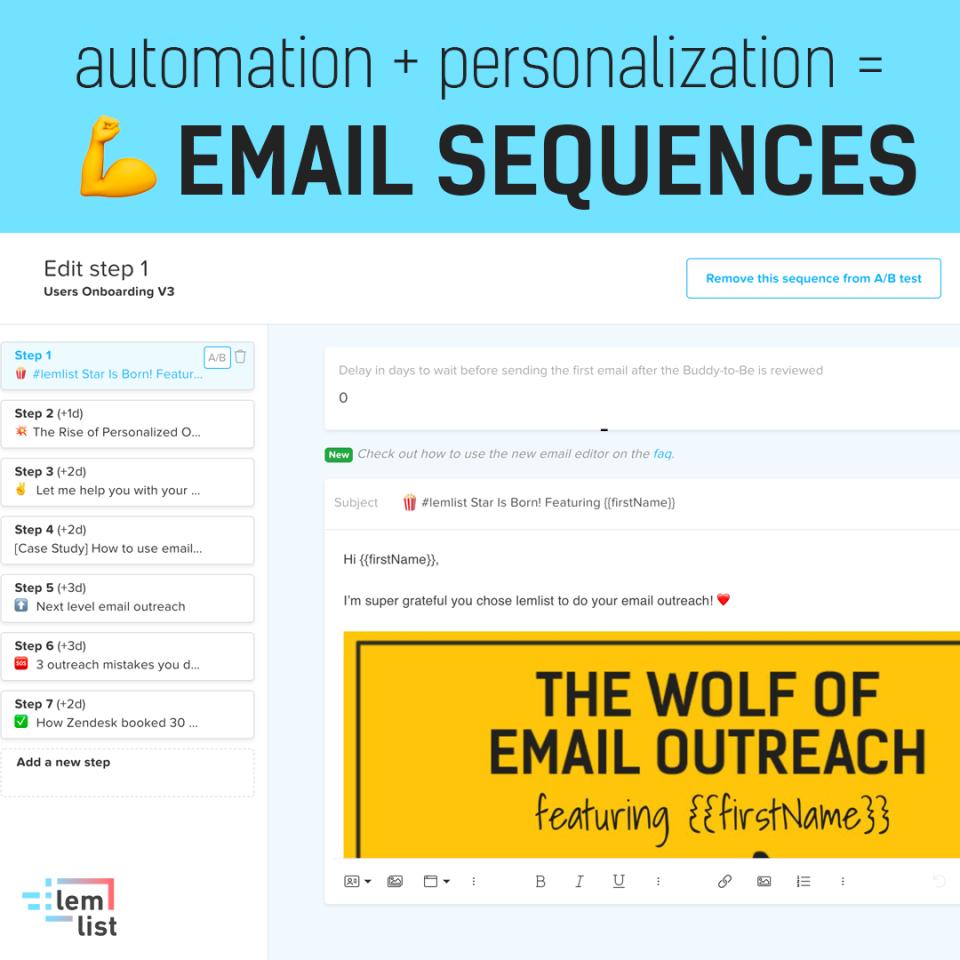 lemlist Software - Auto email sequences
