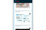 Mend screenshot: Paperless automation features include the ability to upload medical insurance card images for proof of care