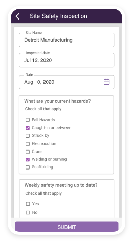 Mobile Forms, checklists