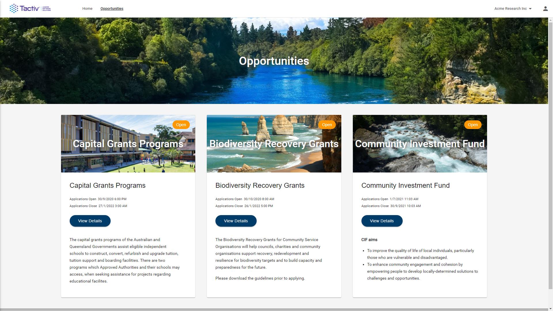 Enquire Software - Enquire's customisable client opportunity portal
