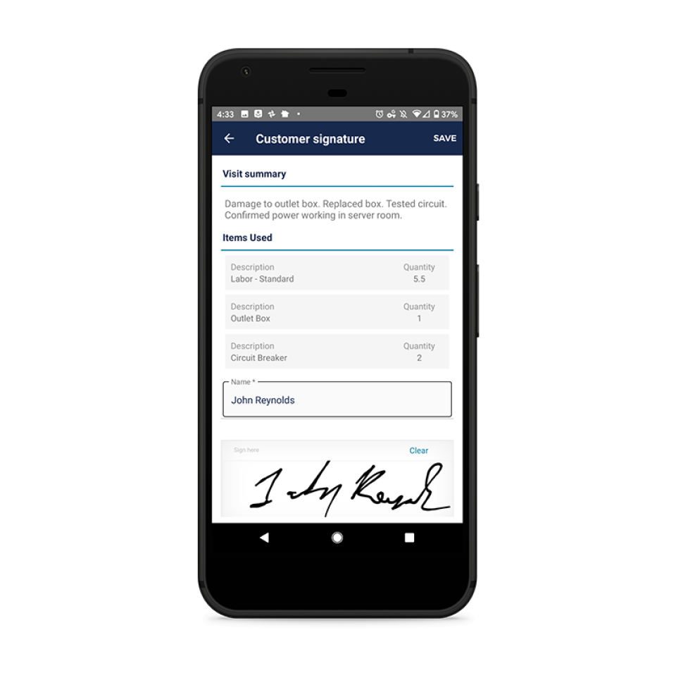 BuildOps Mobile Invoicing + Signature Collection: Contractors make payment easier for their customers AND get paid faster with seamless mobile invoicing that integrates directly with their trusted accounting platform (meaning no double entry).