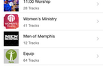 TouchPoint screenshot: TouchPoint allows church members to access shared audio recordings of sermons