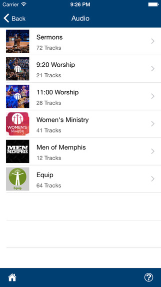 TouchPoint allows church members to access shared audio recordings of sermons