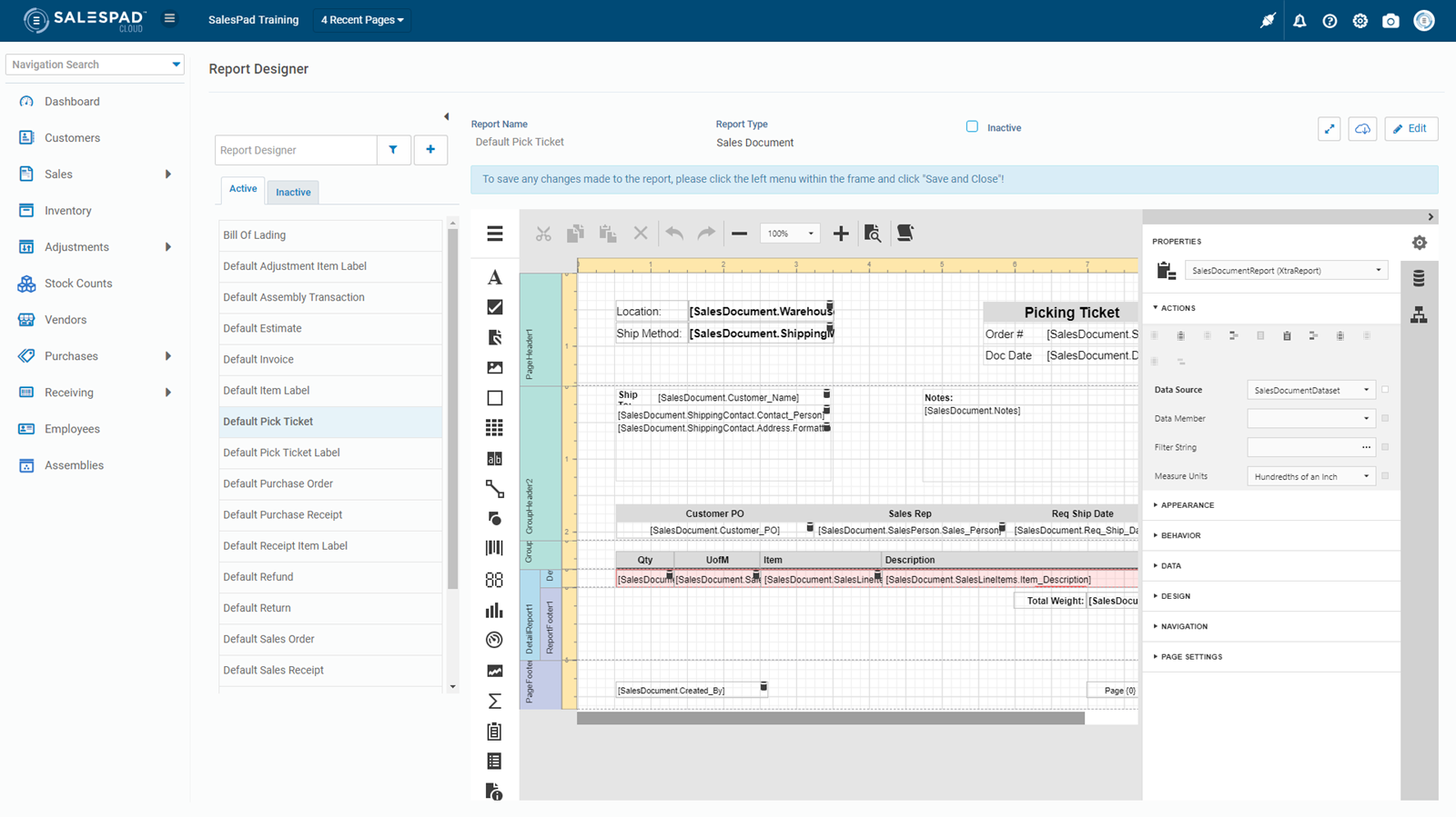 SalesPad Report Designer