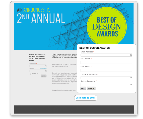 Build an attractive awards site which is optimized for any device