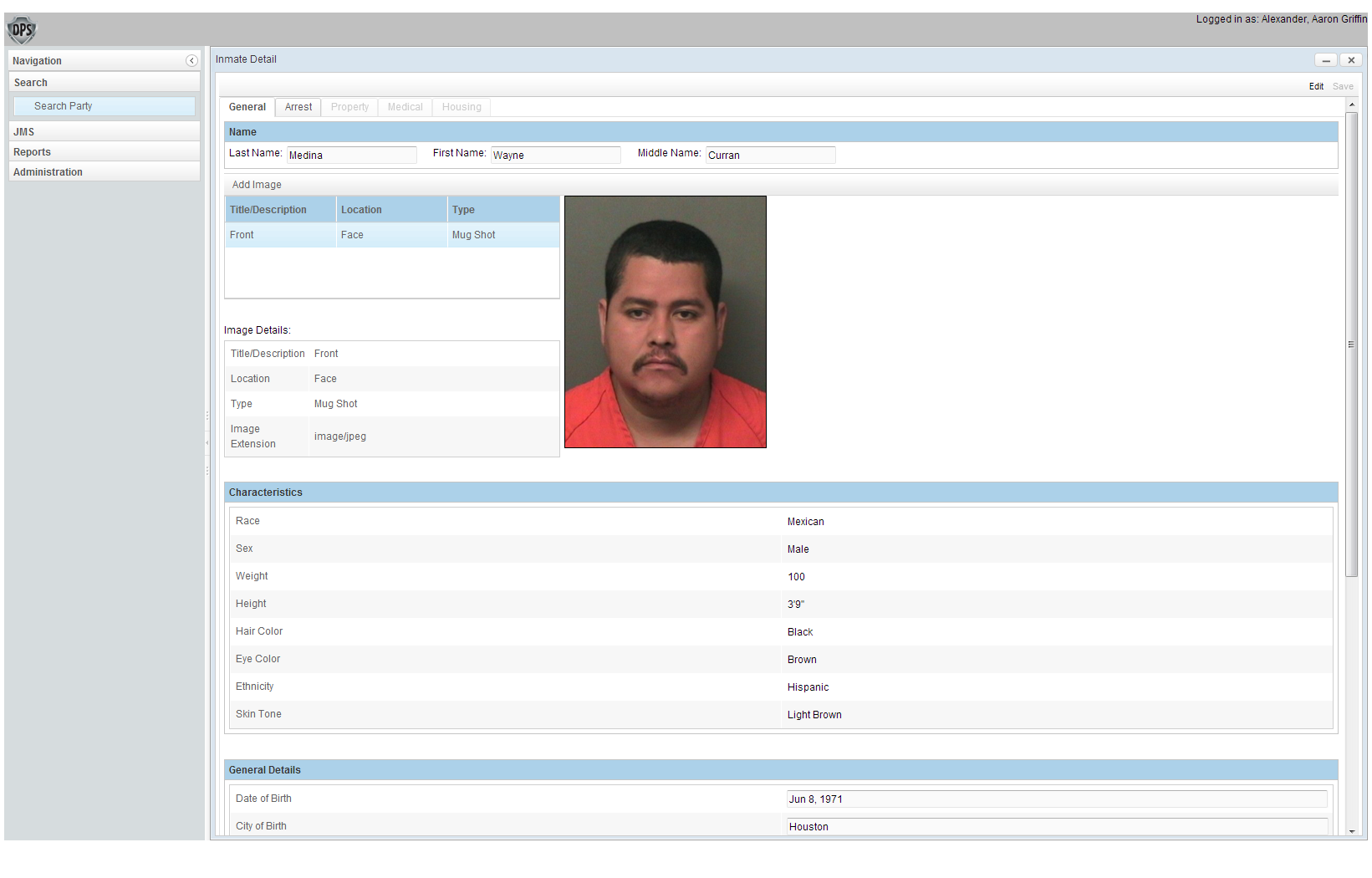 Dynamic Public Safety captures detailed records of all inmates