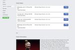 Captura de pantalla de VBO Tickets: Facebook integration