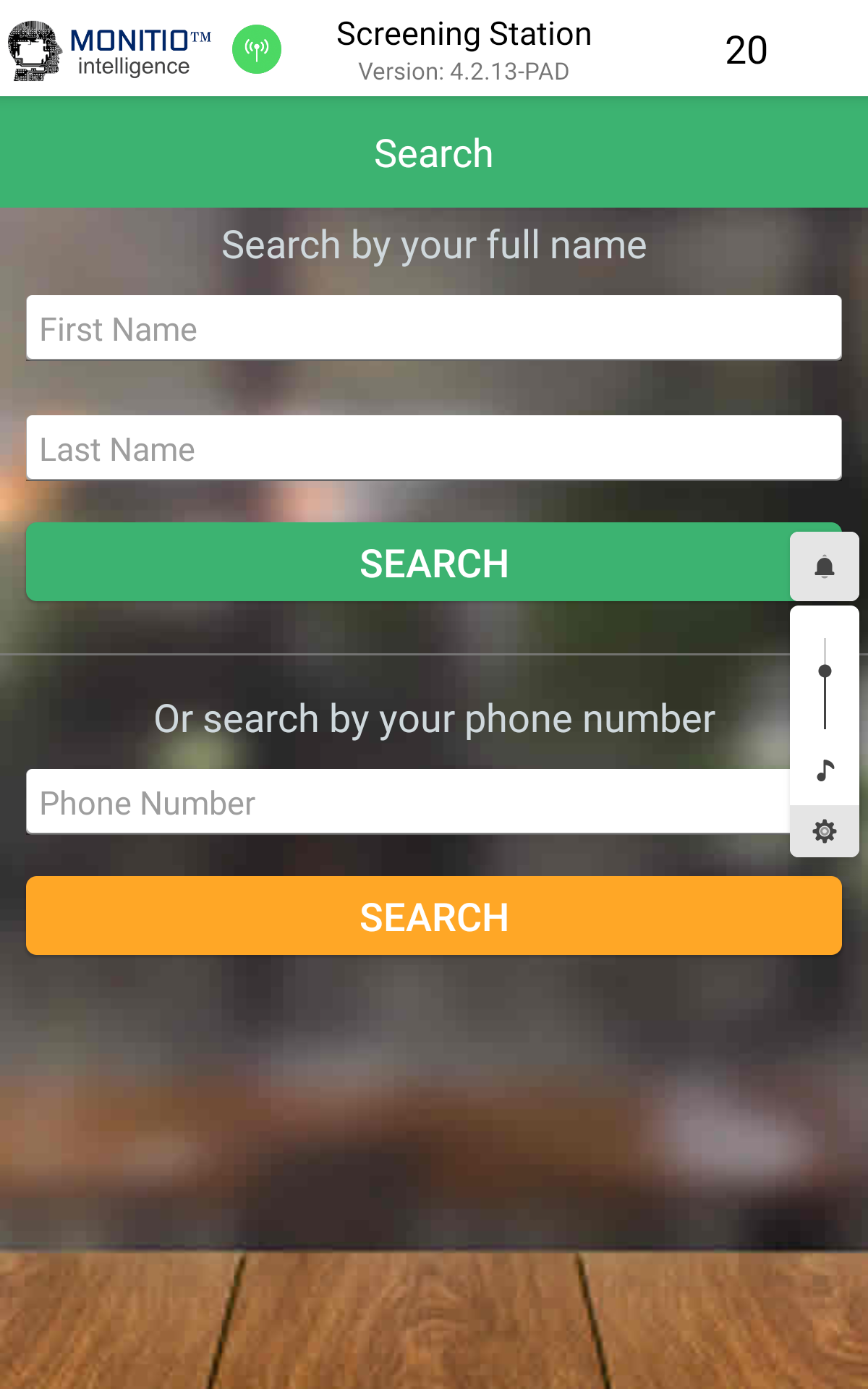 Search by name or phone number