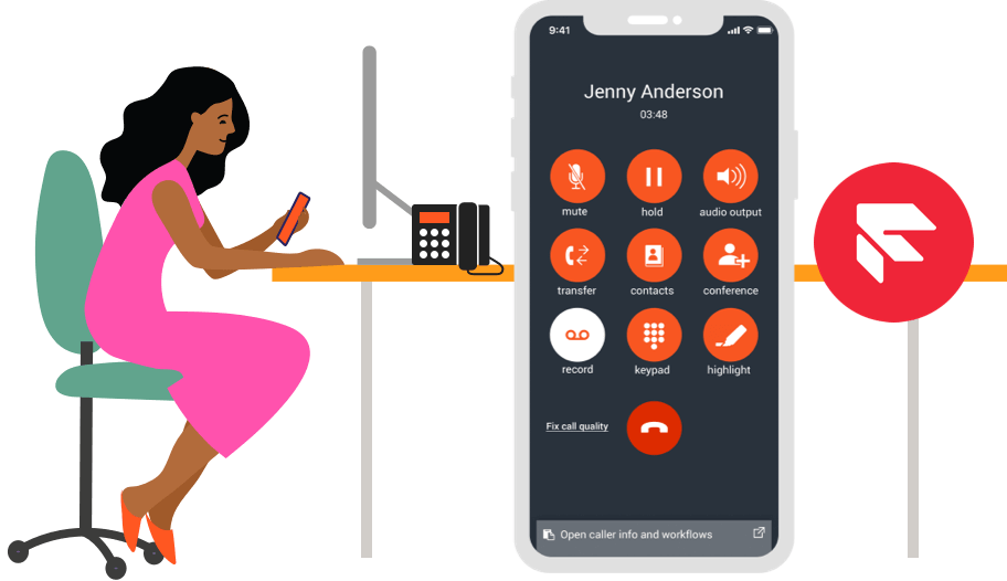 BACK OFFICE CONNECTIVITY FOR TWILIO FLEX. Replace your traditional PBX with a modern alternative on Twilio, fully integrated into Twilio Flex.